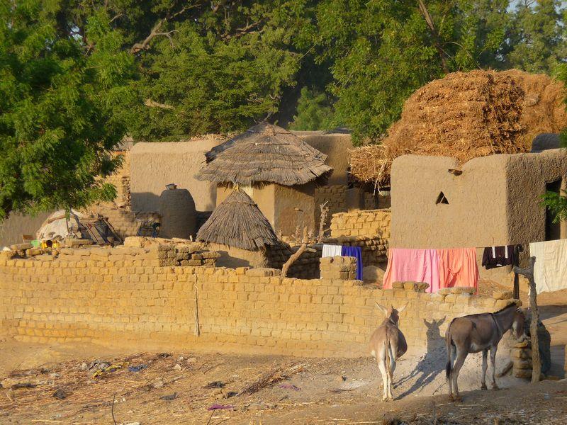 Дворики в деревнях догонов